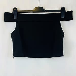 House Of Maguie Black Off Shoulder Crop Top Size Small