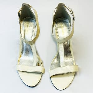 Cream And Clear Heels Size 7