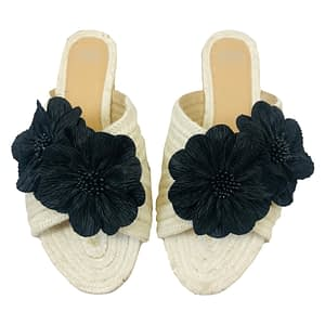 M&S Collection Cream and Black Sliders