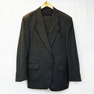 Bruno Kirches Men's Two Piece Dark Grey Suit Extra Large