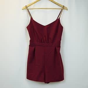 New Look Plum Playsuit Size 8
