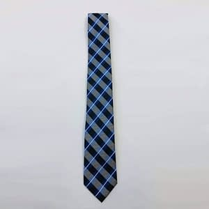 Black And Blue Check Tie