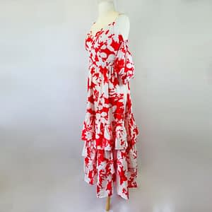 House Of Maguie Pink And White Dress Size 2XL