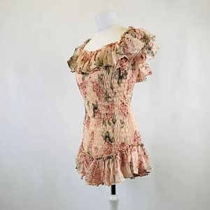 House Of Maguie Pink Floral Dress Size Small