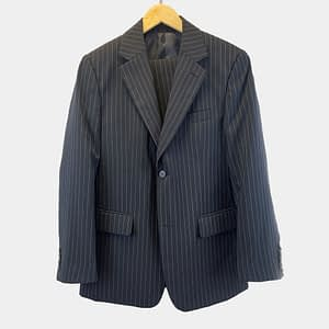 Travel Master Navy Blue Striped Suit