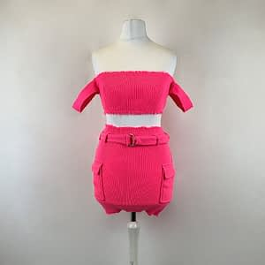 House Of Maguie Pink Two Piece Size XS