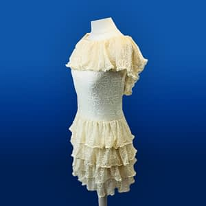 House Of Maguie Cream Lace Dress Size Small