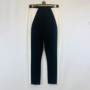 Pretty Little Thing Black & White Trousers Size 10