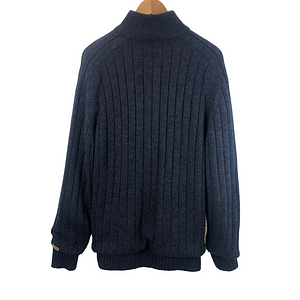 Authentic Knitted Fleece Jacket Navy Size XL