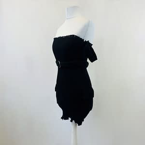 House Of Maguie Black Belted Dress Size Small