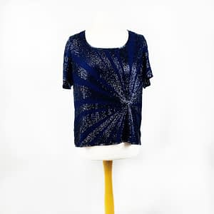 Blue Sequined T-shirt Size 16