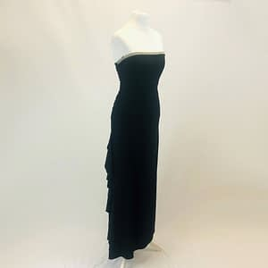 Morgan and Co Black and Gold Dress Size Small