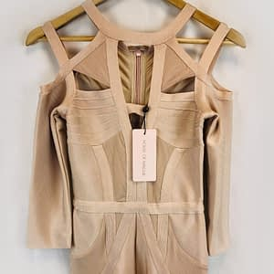 House Of Maguie Pink Bandage Jumpsuit Size Small